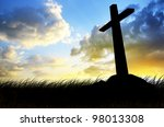 Cross Silhouette With The...