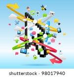 cloud computing concept | Shutterstock .eps vector #98017940