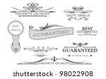 guarantee quality labels | Shutterstock .eps vector #98022908