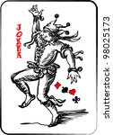 joker playing card | Shutterstock .eps vector #98025173