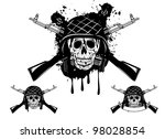 Vector Image Of  Skull In An...