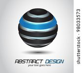 abstract design  glossy sphere. ... | Shutterstock .eps vector #98033573