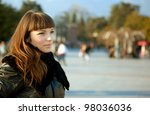 the portrait of a pretty young... | Shutterstock . vector #98036036