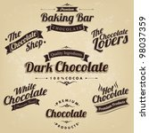 premium retro chocolate vintage ... | Shutterstock .eps vector #98037359
