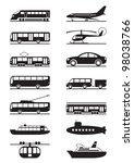 passenger and public... | Shutterstock .eps vector #98038766