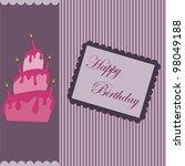 happy birthday postcard | Shutterstock .eps vector #98049188