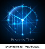 business time   abstract clock... | Shutterstock .eps vector #98050508