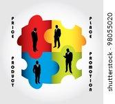 special marketing mix design | Shutterstock .eps vector #98055020
