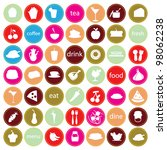 food and drinks icons for... | Shutterstock .eps vector #98062238