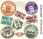 set of rubber stamps. asian... | Shutterstock .eps vector #98062829