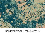 grunge daisy flower abstract...
