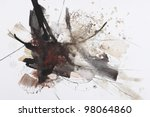 black and red abstract brush... | Shutterstock . vector #98064860