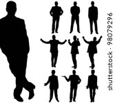 vector business man silhouette | Shutterstock .eps vector #98079296