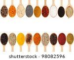 Collection Of 18 Spices On A...
