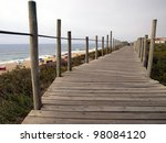 Wooden Path Above The Beach ...