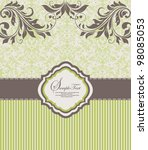 invitation vintage card with... | Shutterstock .eps vector #98085053