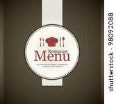 restaurant menu design | Shutterstock .eps vector #98092088
