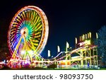 amusement park at night  ... | Shutterstock . vector #98093750