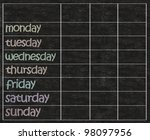 weekly days plan with blank... | Shutterstock . vector #98097956