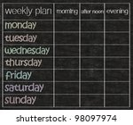 weekly planner written on... | Shutterstock . vector #98097974