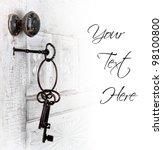 Antique Door With Keys In The...