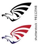 illustration of a set eagle | Shutterstock . vector #98112548