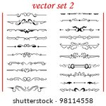 vector set 2  calligraphic... | Shutterstock .eps vector #98114558