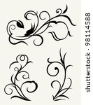 vector set: calligraphic design elements and page decoration - lots elements to embellish your layout - stock vector