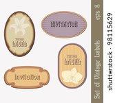 set of retro labels in beige...   Shutterstock .eps vector #98115629