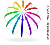 illustration of colorful arrows ... | Shutterstock .eps vector #98119970