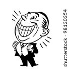 beaming man   retro clipart... | Shutterstock .eps vector #98120354