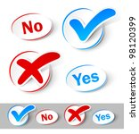 check mark yes and no | Shutterstock .eps vector #98120399