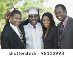 graduate with sons and daughter | Shutterstock . vector #98123993