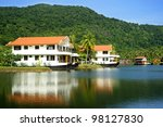 Exotic tropical hotel in the jungle, Thailand - stock photo