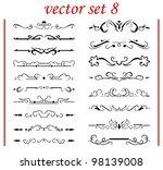 vector set 8  calligraphic... | Shutterstock .eps vector #98139008