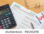 photo of a uk self employment... | Shutterstock . vector #98140298