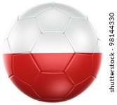 3d rendering of a polish soccer ... | Shutterstock . vector #98144330