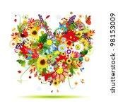 Four Seasons. Art Heart Shape...