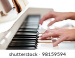 Playing Piano  Shallow Dof ...