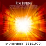 bright background with rays in... | Shutterstock .eps vector #98161970