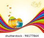 vector illustration of easter...   Shutterstock .eps vector #98177864