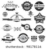 premium quality labels  ... | Shutterstock .eps vector #98178116