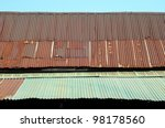 Rusty Zinc Grunge Roof