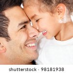 portrait of lovely a daddy's... | Shutterstock . vector #98181938