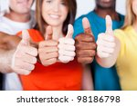 group of multiracial friends... | Shutterstock . vector #98186798