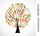 carrot tree vector illustration ... | Shutterstock .eps vector #98188154