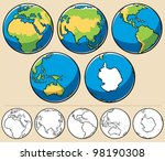Earth  Cartoon Illustration Of...