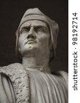 Постер, плакат: Francesco Guicciardini Statue outside
