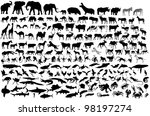animal silhouettes collection | Shutterstock . vector #98197274