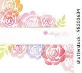Stock vector rose background 98203634
